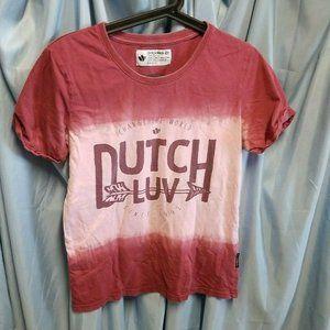 Dutch Bros Top Size S Dutch Luv Love Tee Shirt